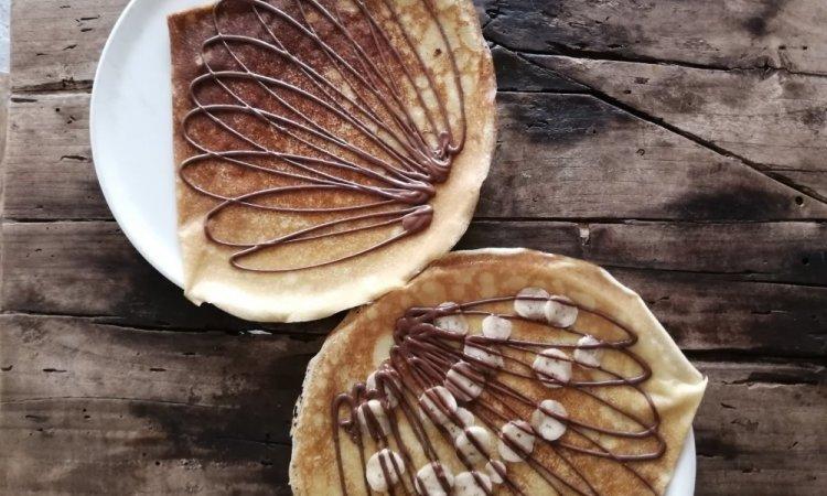 Crêpe de froment - chocolat et chocolat banane - crêperie bretonne - Saint Gilles Les Bains - 974
